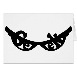Geek specs note card