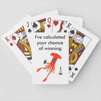 Geek squid playing cards