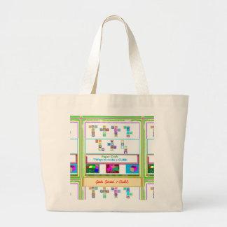 GEEK Street  7 CUBE : Kids Paper Craft Lessons Jumbo Tote Bag