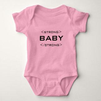 Geek Strong Baby HTML Web Design Bodysuit