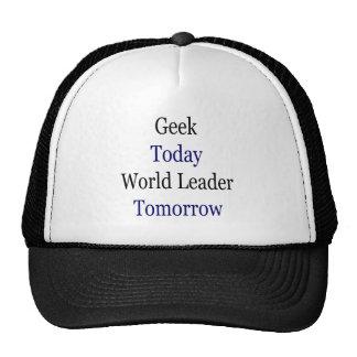 Geek Today World Leader Tomorrow Mesh Hat