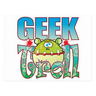 Geek Troll Postcard