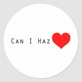 Geek Valentine Round Sticker