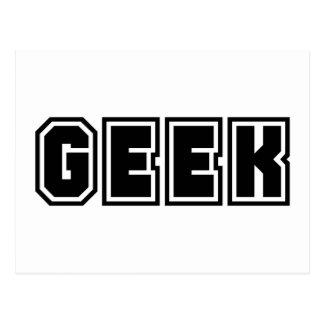 Geek Varsity Letters Geeky Dorky Statement Geeks Postcard