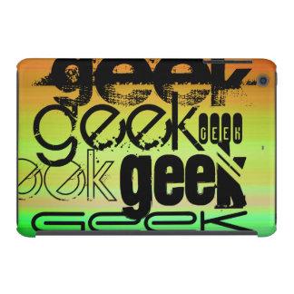 Geek; Vibrant Green, Orange, & Yellow iPad Mini Cover