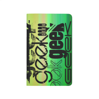 Geek; Vibrant Green, Orange, & Yellow Journal