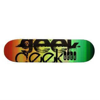 Geek; Vibrant Green, Orange, & Yellow Skate Boards