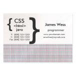 Geek Web Programmer Business Card Templates
