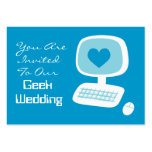 Geek Wedding Invitation Event Cards Business Cards
