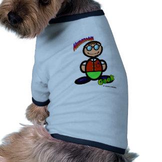 Geek  (with logos) ringer dog shirt