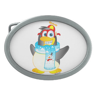 Geek Wobble Penguin Belt Buckle