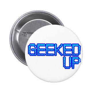 GEEKED UP blue jerkin jerk dance guys an girls 6 Cm Round Badge