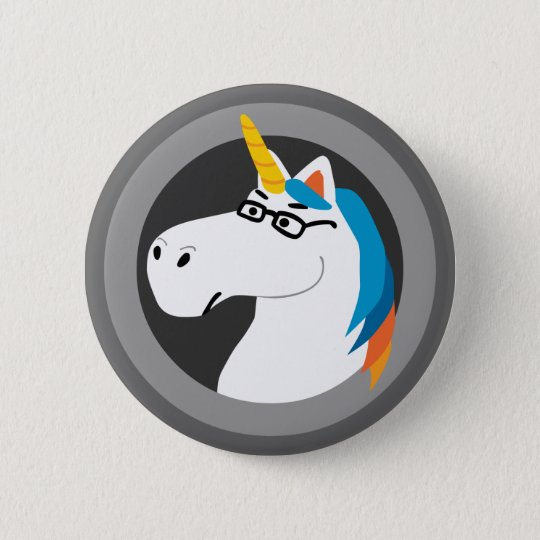 Geekicorn 6 Cm Round Badge