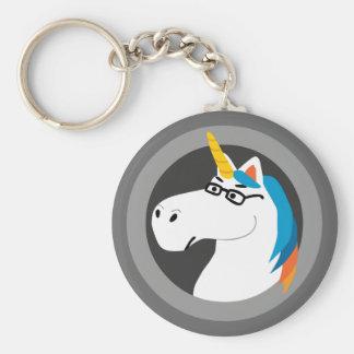 Geekicorn Basic Round Button Key Ring