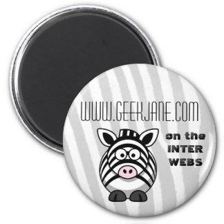 GeekJane.com Button 6 Cm Round Magnet