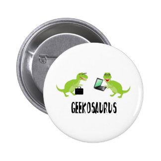 geekosaurus 6 cm round badge