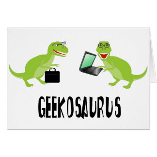 geekosaurus greeting card