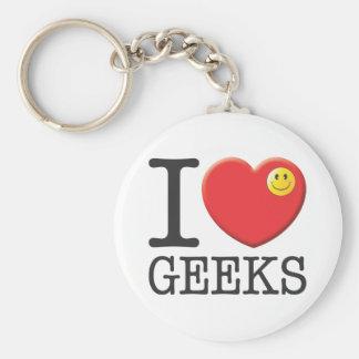 Geeks Basic Round Button Key Ring