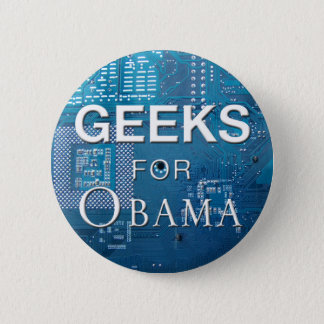 Geeks for Obama Button