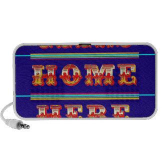 Geeks Home Here Gifts by Sharles Notebook Speakers