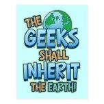 Geeks Inherit Earth Postcard