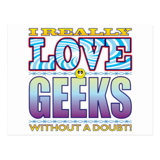 Geeks Love Face Postcard