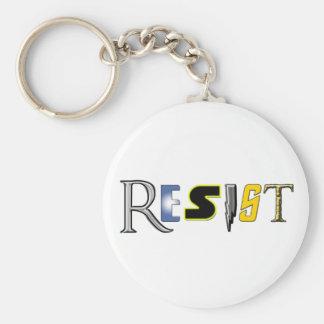 Geeks Resist! Basic Round Button Key Ring