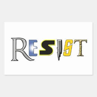 Geeks Resist! Rectangular Sticker
