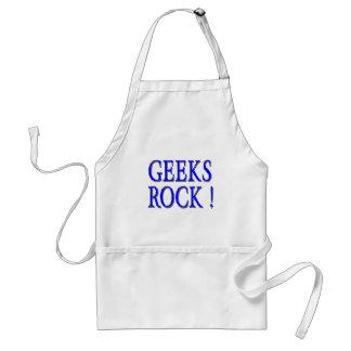 Geeks Rock !  Blue Adult Apron