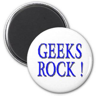 Geeks Rock !  Blue Fridge Magnet