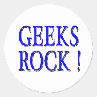 Geeks Rock !  Blue Stickers