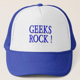 Geeks Rock !  Blue Trucker Hat