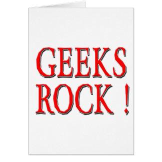 Geeks Rock !  Red Greeting Card