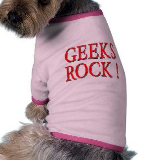 Geeks Rock Red Pet T-shirt