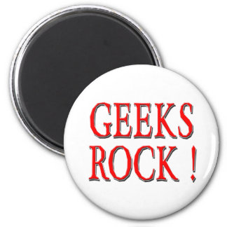Geeks Rock !  Red Magnets