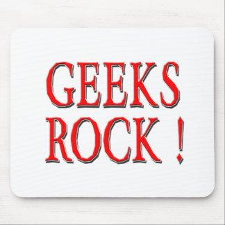 Geeks Rock Red Mousepads