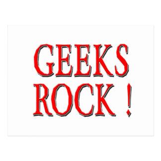 Geeks Rock !  Red Postcard