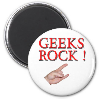 Geeks Rock with Hand Magnet