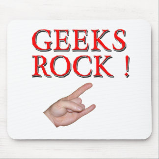 Geeks Rock !  with Hand Mouse Pad