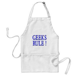 Geeks Rule !  Blue Adult Apron