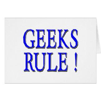 Geeks Rule !  Blue Greeting Card