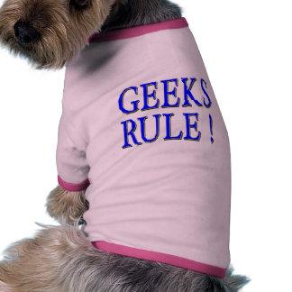 Geeks Rule Blue Pet Tee Shirt