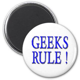 Geeks Rule !  Blue Fridge Magnets
