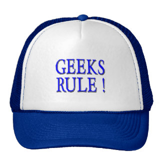 Geeks Rule !  Blue Trucker Hats