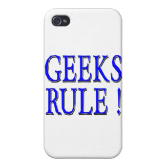 Geeks Rule ! Blue Case For iPhone 4