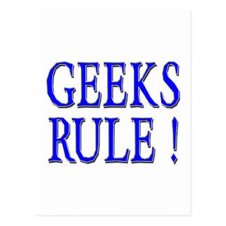 Geeks Rule !  Blue Postcard