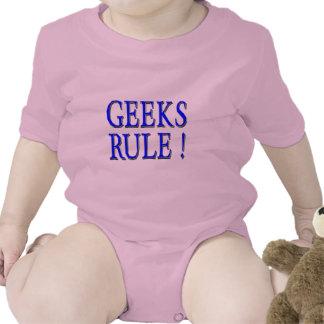 Geeks Rule !  Blue Rompers