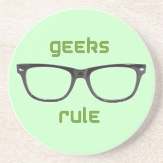 Geeks Rule Eyeglasses Drink Coasters