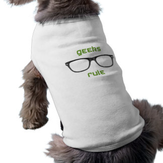 Geeks Rule Eyeglasses Sleeveless Dog Shirt
