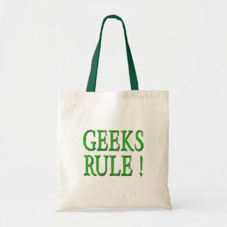 Geeks Rule !  Green Tote Bag